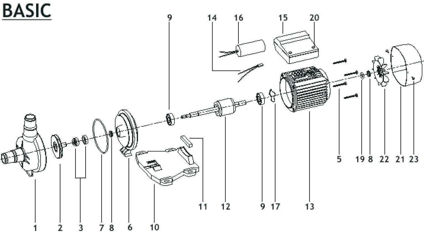Explosionszeichnung Pool Pumpe Basic