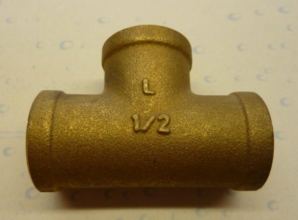 Messing T-Stück, schwere Ausführung (sA)