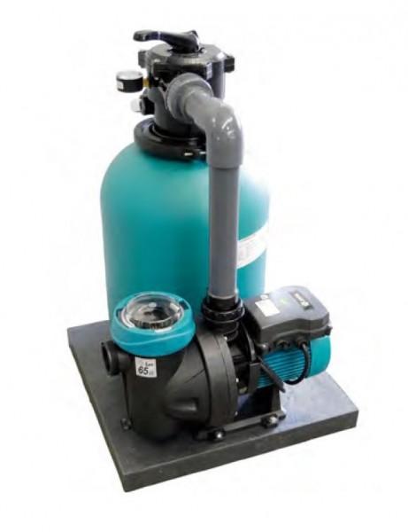 Sandfilteranlage Top 450 mit Filterpumpe Silen I 100-15 M für Schwimmbecken 30 m3 - 63 m3 mit Rohranschluss.