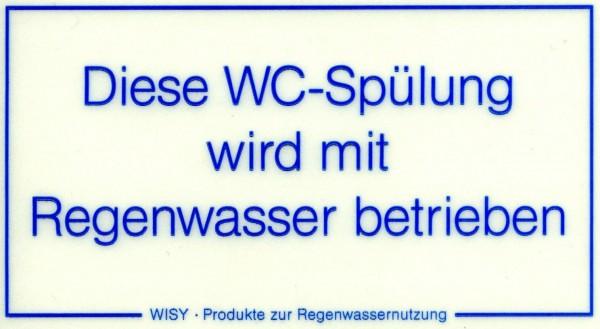 Etikette, selbstklebend für WC-Spülung - Kennzeichnungsschild