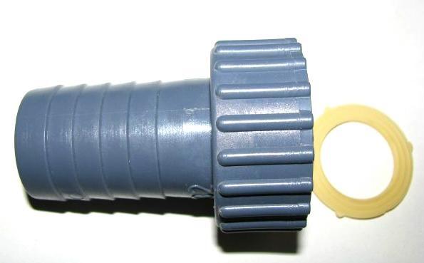 Schlauchtülle, Anschlußstutzen Gerade für Behälterverschraubung aus Kunststoff PP