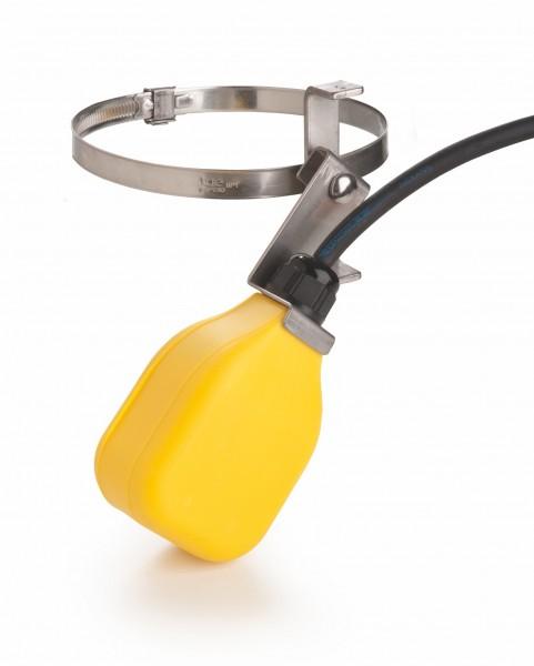 Schwimmerschalter mit 4 cm Schaltweg, Schaltfunktion unten ein, für die Trinkwasser-Nachspeisung.