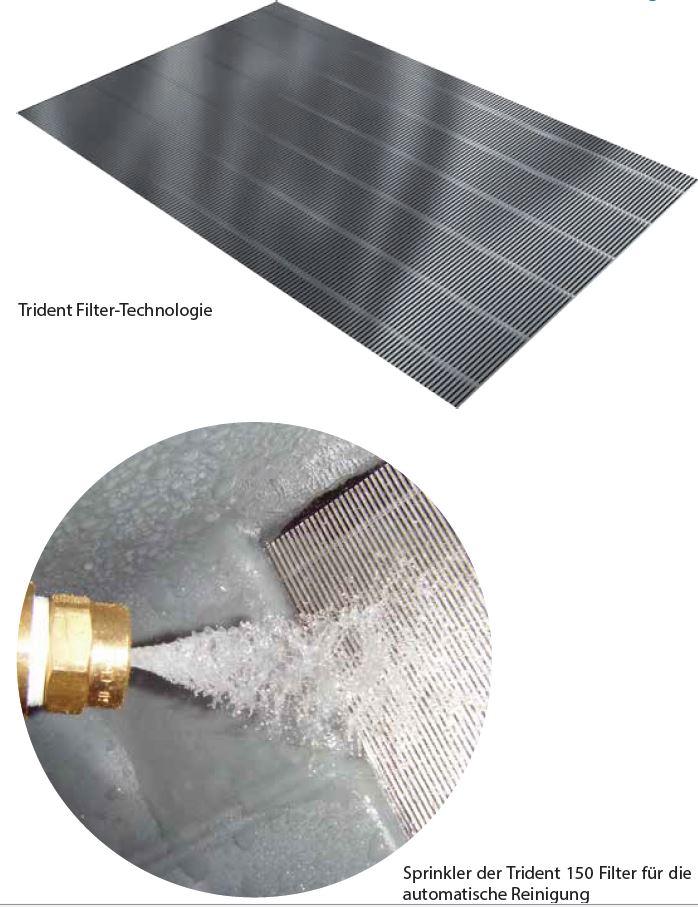 GEP Trident 150 Zisternenfilter DN100 für Dachflächen bis 150m² mit Skimmer-Über