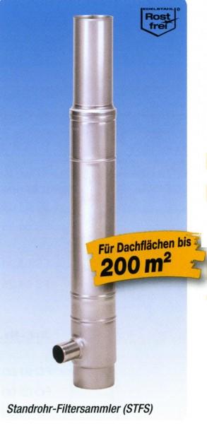 Standrohr Filter zum Erdeinbau für Fallrohr 80mm, Gewebe 0,28mm