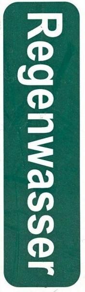 Regenwasser Etikett, selbstklebend für Aufputz-Rohre