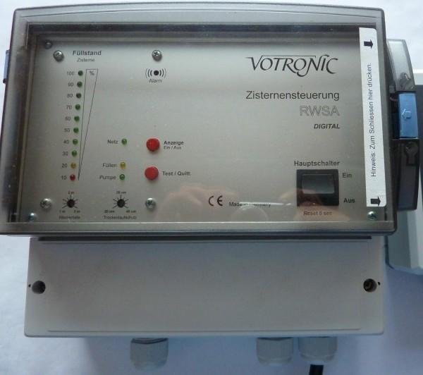 Gerät nicht mehr lieferbar: Votronic Zisternen-Steuergerät RWSA Digital, Nr.9230 mit Füllstandsanzeige, Schaltfunktion für die Trinkwasser-Nachspeisung und Trockenlaufschutz