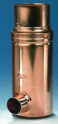 Filter in Kupfer für Fallrohr 80mm, Filtergewebe 0,28mm