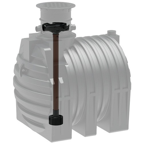 Kunststoff Regenwassertank 4.700 Liter mit Tridentfilter, Zulauf und Dom