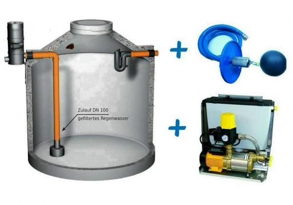 Regenwasseranlage mit 7.000 Liter Betontank, Filter, Regenwasserzentrale SIGMA und Ansaugleitung