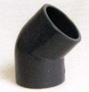 PVC - Winkel 45 Grad mit Klebemuffe 50mm für PVC Rohr 50mm