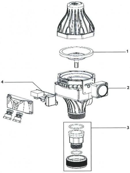 Explosionszeichnung Espa Druckregler Pressdrive AM