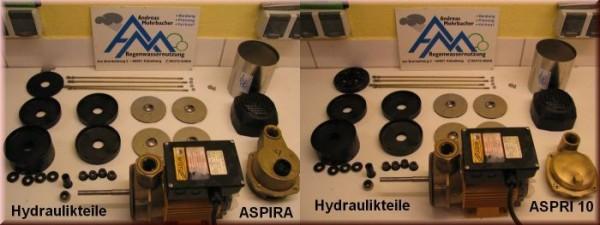 Film Reparaturanleitung ASPIRA 10 und ASPRI 10 komplette hydraulische Teile der Pumpen ASPRI 10 und ASPIRA 10 1