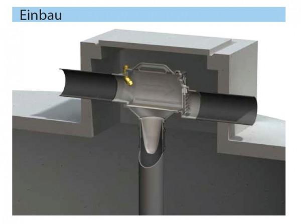 Zisternen Filter Trident zum Einbau in Regenspeicher mit tiefen Einstieg, für 150 m2 Dachfläche mit
