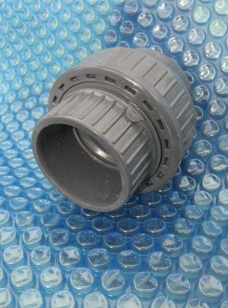 PVC - Verschraubung, Muffe 50mm, dreiteilig, für PVC Rohr 50mm