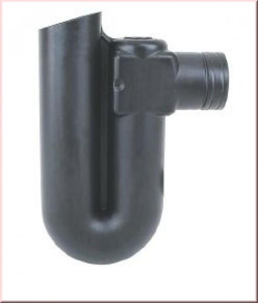 Überlaufsiphon für Rohre DN110 (DN100) mit Kleintierschutz der Überlaufsiphon aus Polyethylen (PE) für Rohre DN110 (DN100) mit Kleintierschutz. Neben dem Vorfilter, dem beruhigten Zulauf und der schwimmenden Entnahme, ist das Siphon die vierte Reinigungss