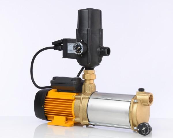 Hauswasserwerk ASPRI 15 mit Druckregler KIT SA06 V, Druckabgang rechts, sehr leise mehrstufige Kreiselpumpe aus Messing (MB), stromsparend mit für ein Einfamilienhaus. Original Espa bewährte Qualität - 2 Jahre Garantie