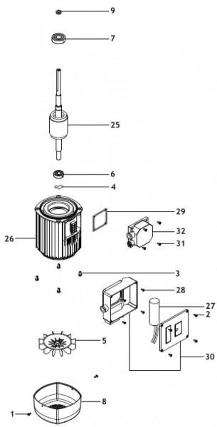 Explosionszeichnung Aspri 35 Espa Hauswasserwerk