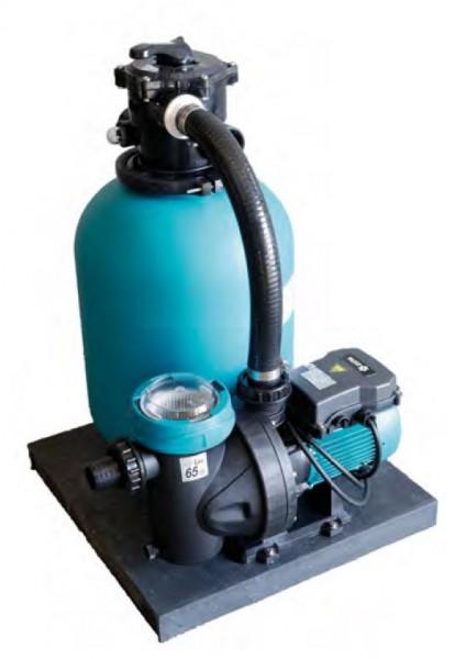 Sandfilteranlage Alpha 550 mit Filterpumpe Silen I 100-15 M für Aufstellbecken 25 m3 - 30 m3 mit Schlauchanschluss.
