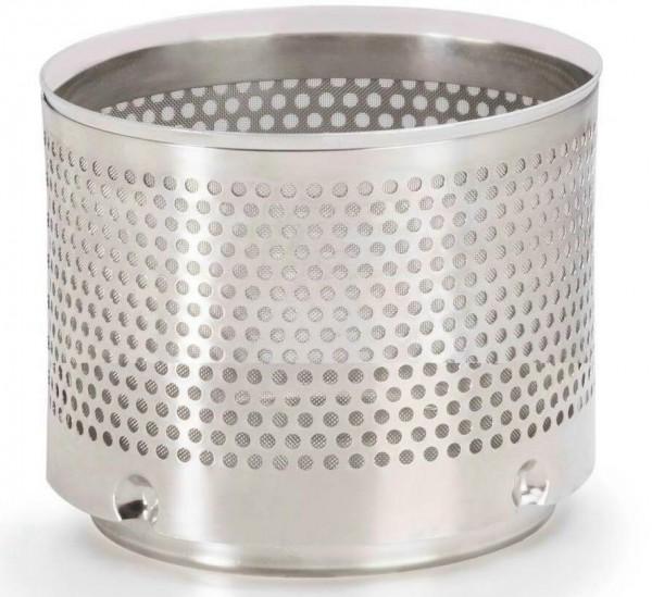 Filtereinsatz aus Edelstahl mit Filtergewebe 0,44 mm für Gartenfallrohrfilter