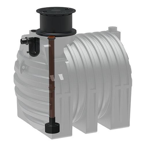 Kunststoff Regenwassertank 4.700 Liter mit Zulauf, Überlauf und Schiebedom