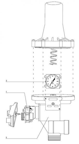 Explosionszeichnung Espa Druckregler KIT02