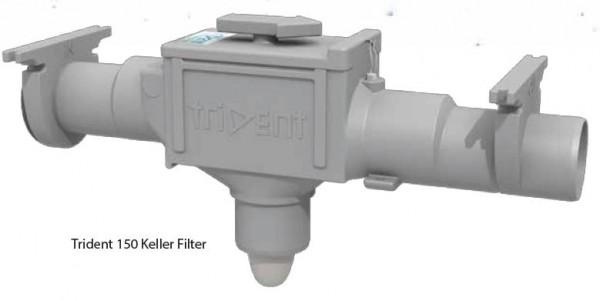 Keller Filter Trident zur Installation in Räumen für 150 m2 Dachfläche, 3,9 cm Höhenversatz