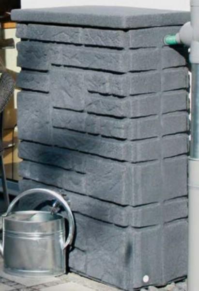 Steinmauer Maurano, Regenspeicher mit 300 Liter, Farbe black granit oder granit