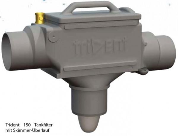 Zisternen Filter Trident zum Einbau in Regenspeicher für 150 m2 Dachfläche, 3,9 cm Höhenversatz