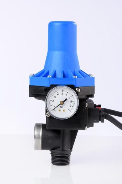 Druckregler KIT02-4 mit blauem Deckel/Hut und Manometer