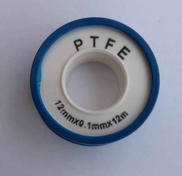 Gewindedichtband PTFE, Rolle mit 10 Meter, Dicke 0,10mm, Breite 12mm