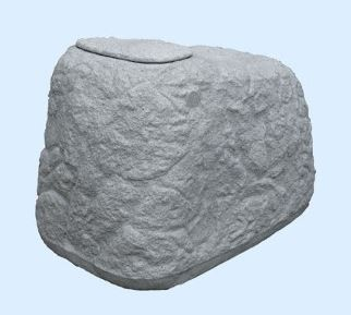 Findling Regenspeicher 500 Liter, Farbe granitgrau