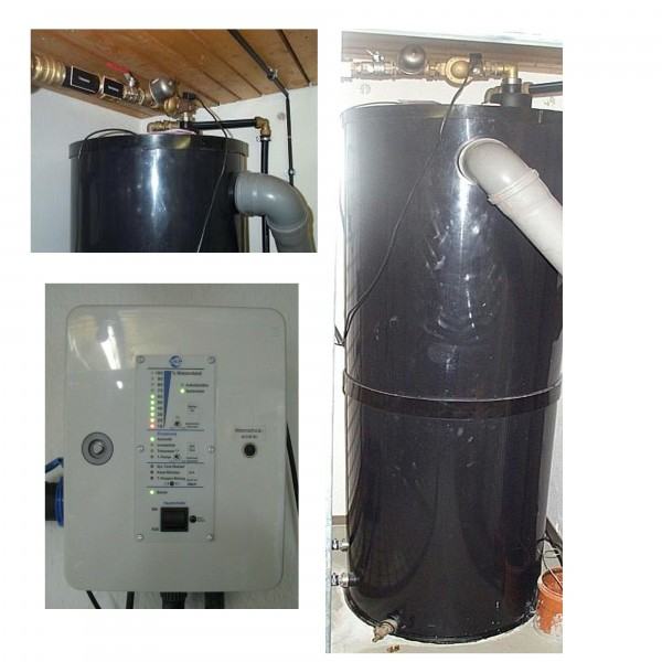 Hybrid-Systeme für Regenwasser der Firmen Espa, GEP, Dehoust, Wisy