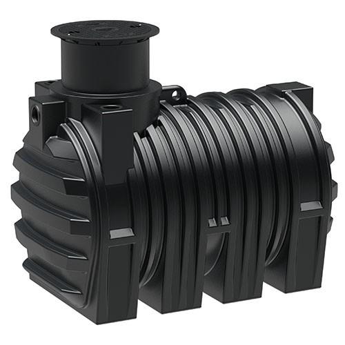 Kunststoff Regenwassertank 3.300 Liter mit drei Anschlüssen und Schiebedom