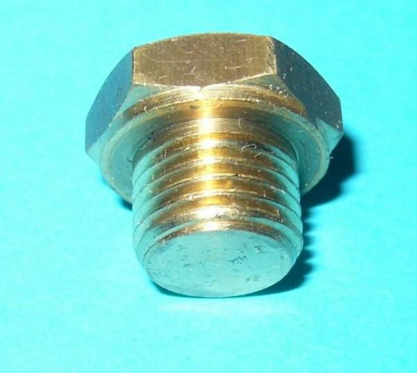Einfüllstopfen, Verschlussschraube, Ablassstopfen für Pumpen aus Messing z.B. Aspira, Aspri, Prisma,