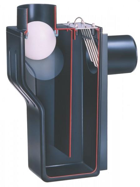 Multisiphon DN 110 (DN100) mit Kleintierschutz und Kanal-Rückstausicherung