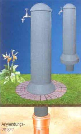 Garten-Zapfstelle, Farbe granit