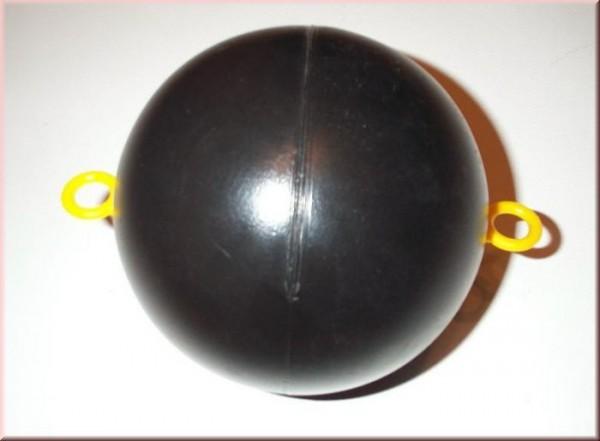 Schwimmkugel (PE) mit dem Durchmesser von 15 cm aus PE mit zwei Oesen,
