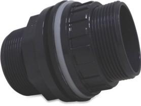 PVC - Tankdurchführung beidseitig 1 Zoll AG und 25 mm Klebemuffe