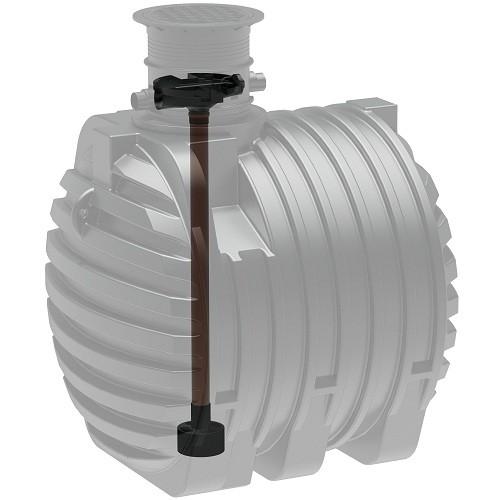 Kunststoff Regenwassertank 6.500 Liter mit Tridentfilter, Zulauf und Dom