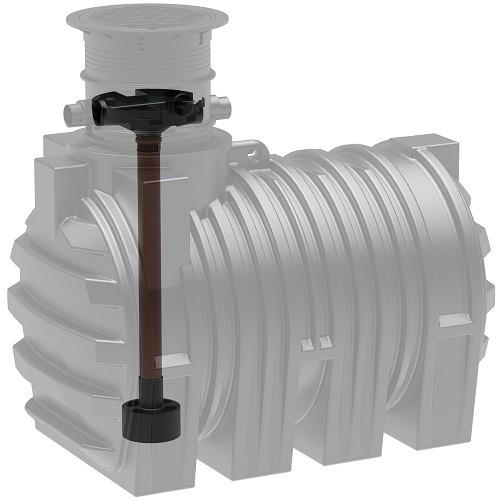 Kunststoff Regenwassertank 3.300 Liter mit Tridentfilter, Zulauf, Überlauf und Dom