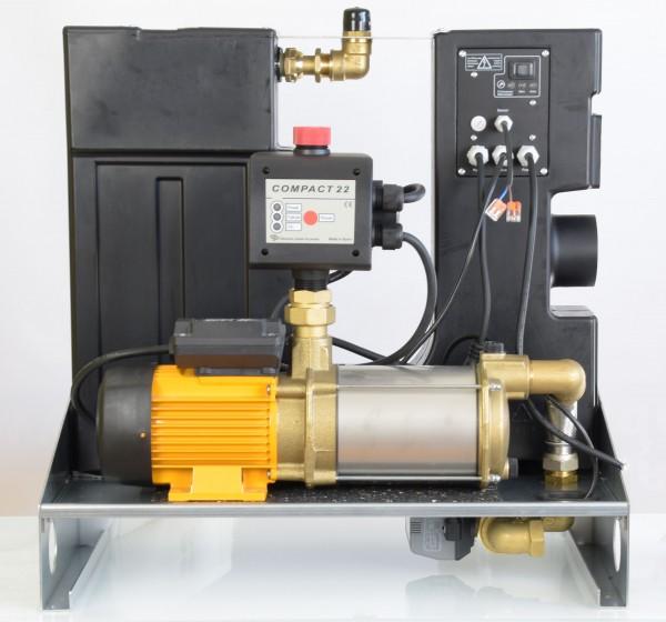 Regenwassermanager AMRES mit Espa Pumpe Aspri 15-4, Druckregler mit Manometer (seitlich)