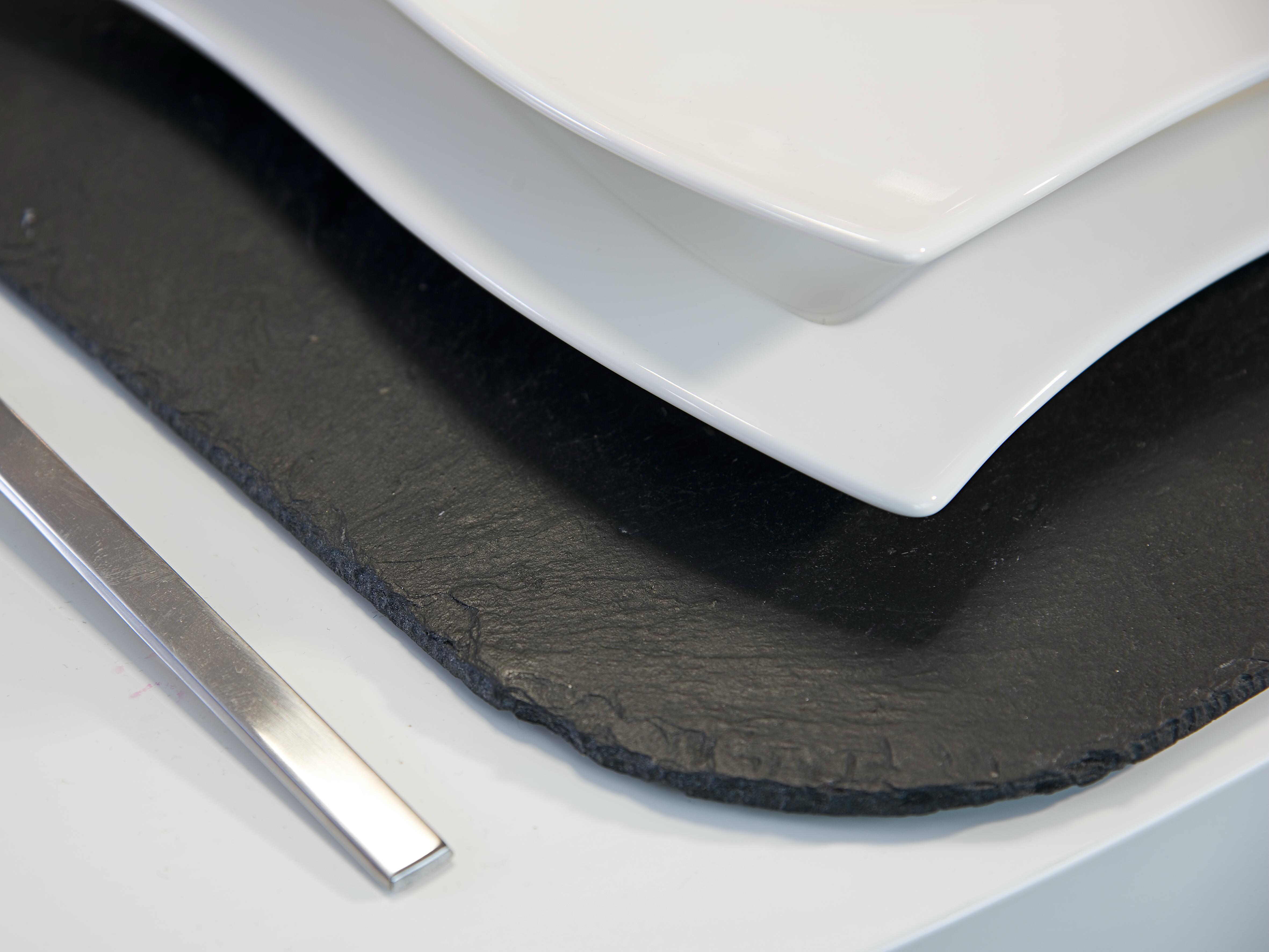 Naturschiefer Tischset mit runden Ecken
