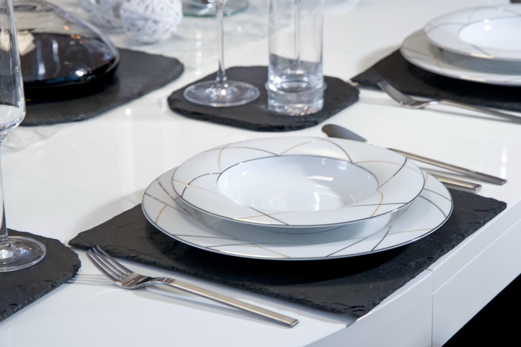 Tischset aus Naturschiefer, leicht geölt